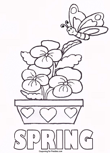 FREE Printable Coloring Page With Spring Theme FREE For Kids To