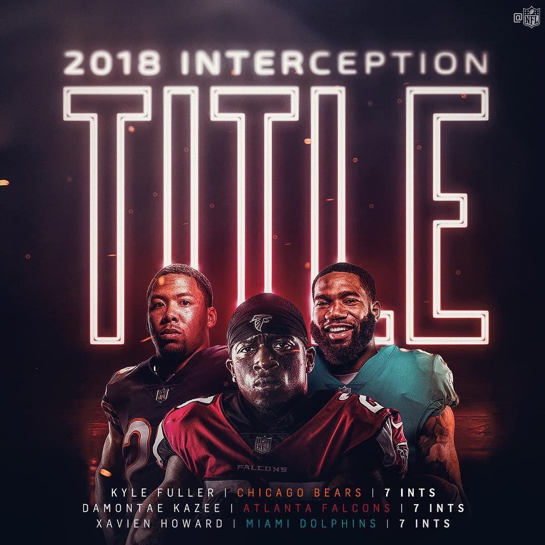 Nfl On Instagram A Shared Int Title In 2018 Kbfuller17 D Kazee And Iamxavienhoward Da Bears Atlanta Falcons Kansas Chiefs