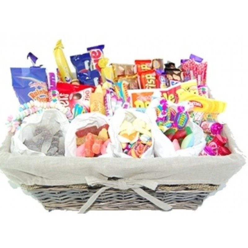 . Mega mix sweet hamper gift box filled with 25 BAGS of the most popular SWEETS
