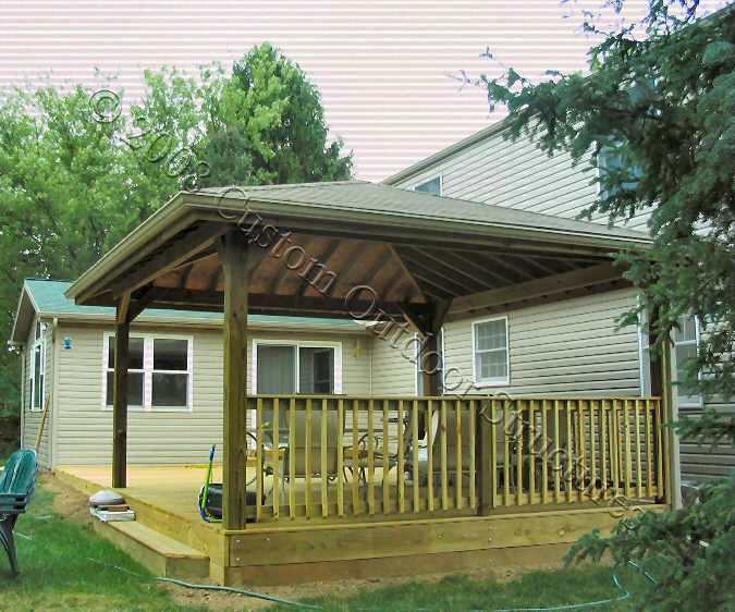 Covered Pressure Treated Deck Building A Deck Covered Deck Designs Decks Backyard