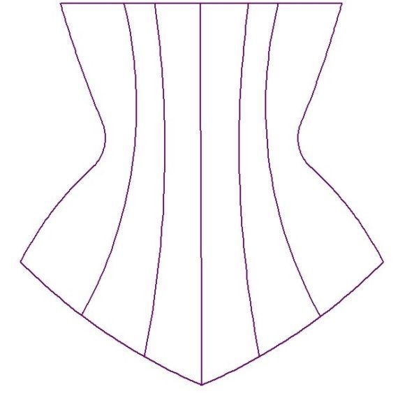 Paper Sewing Pattern for Custom Underbust Corset | moldes ...