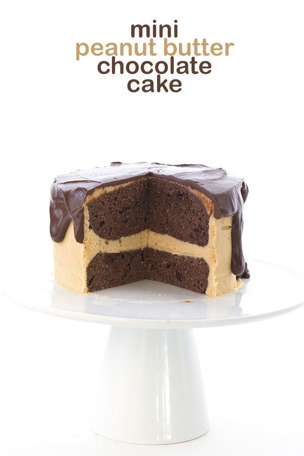 Mini Chocolate Peanut Butter Layer Cake Recipe Low