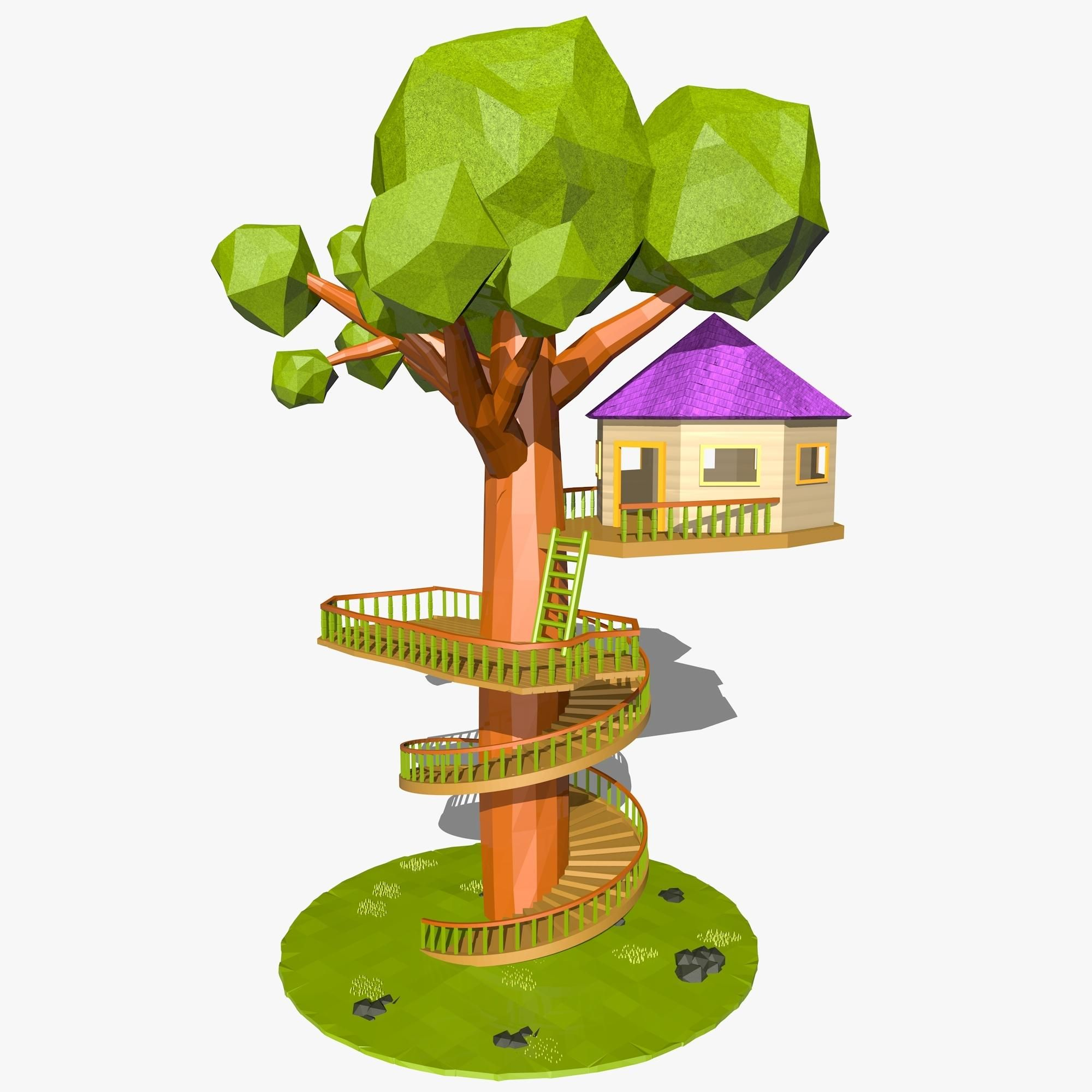 Cartoon Tree House 3d Model Ad Tree Cartoon Model House Cartoon Trees House 3d Model Tree House Please note that the lights, cameras, and background is. cartoon tree house 3d model ad tree