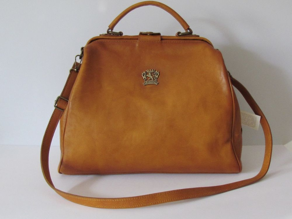 Pratesi Firenze Made In Italy Brown Italian Leather Satchel Shoulder Bag Nwt Doctorsatchelshoulderbag