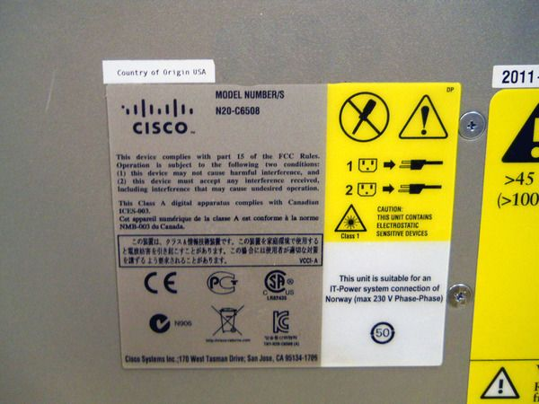 CISCO N20-C6508 UCS 5108 Blade Server Chassis | Products | Blade