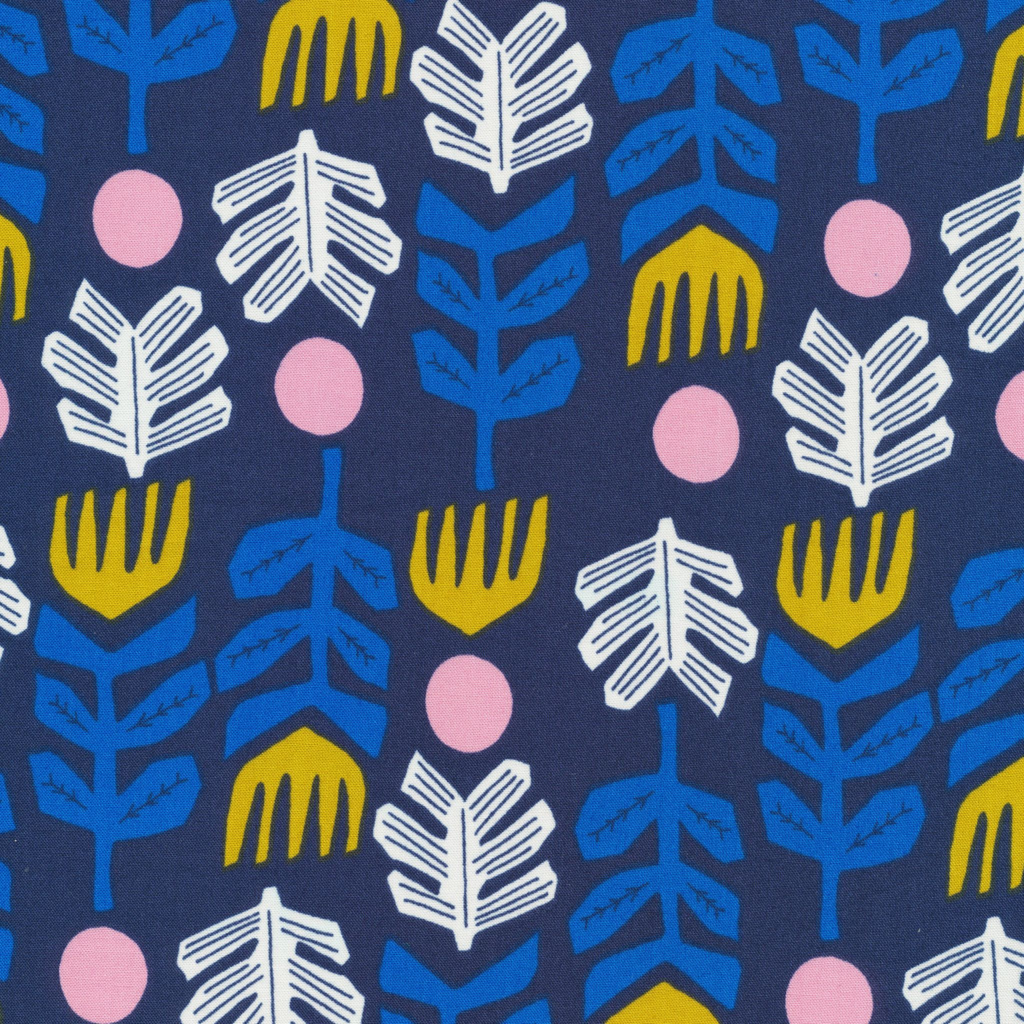 Big Foot Navy - Lore Collection By Leah Duncan for Coud 9 (5208.52.00.00) Quilters Woven