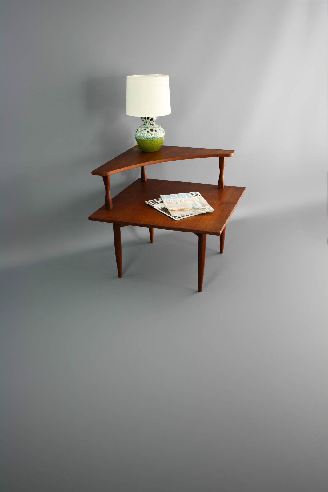 Mid Century Teak Corner Side Coffee Table Two Tier Retro Vintage Parker Danish Eames Era Vic Ebay 360 Modern Furniture [ 1600 x 1066 Pixel ]