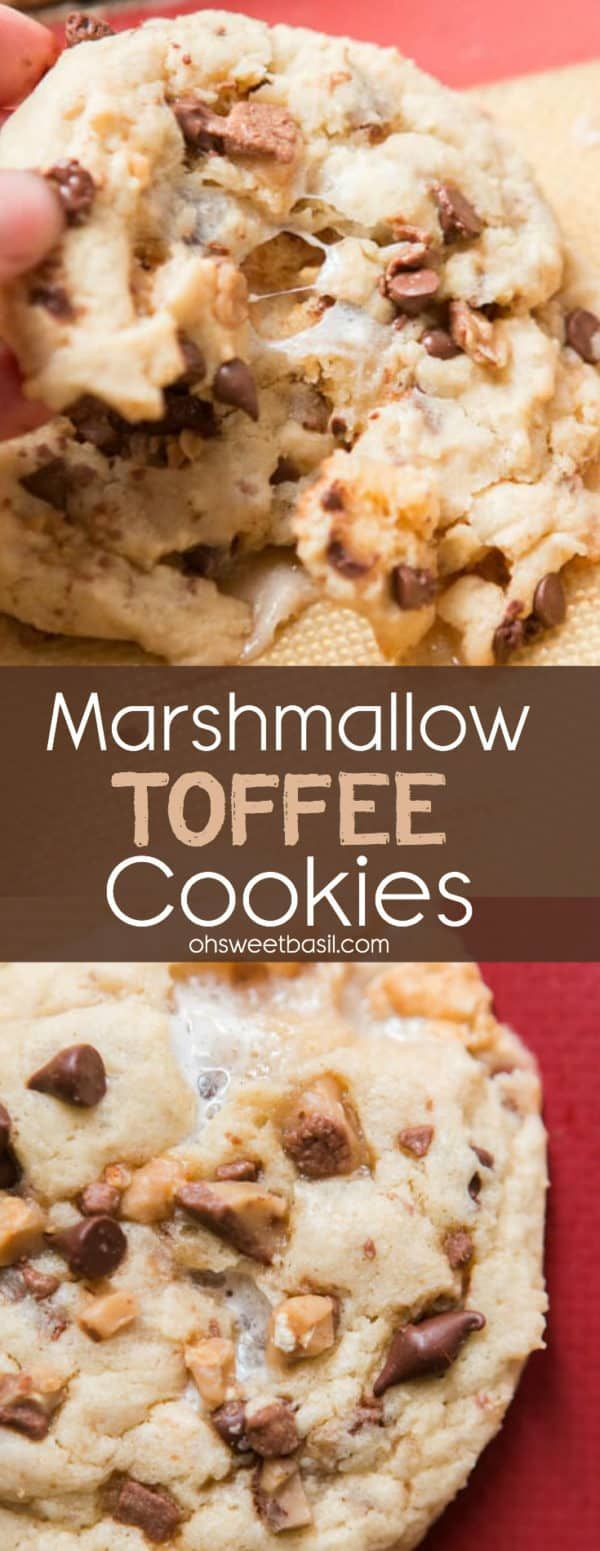 Our family decided to spark creativity with a simple cookie recipe and not only did we have a lot of fun but these marshmallow toffee cookies were a hit! #easycookies #cookies #dessert #delicious #marshmallowcookies #toffee #chocolatemarshmallowcookies