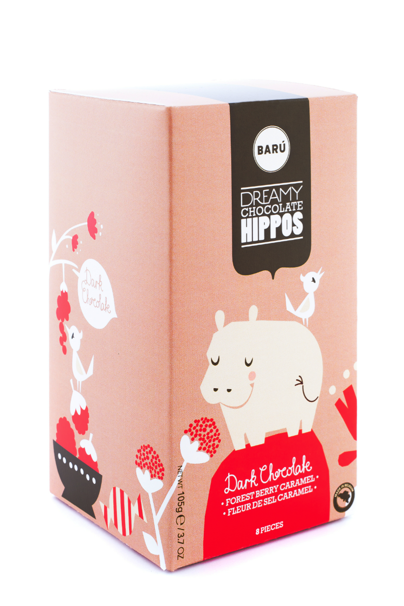 Dreamy Chocolate Hippos I'm not sure about equating chocolate with hippos, but the package is cute.