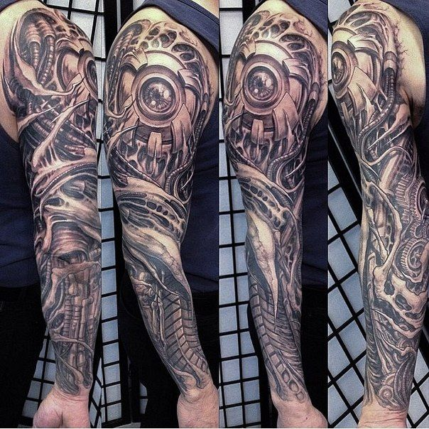 N614x7lrBzM.jpg 604×604 pixels Biomechanical tattoo