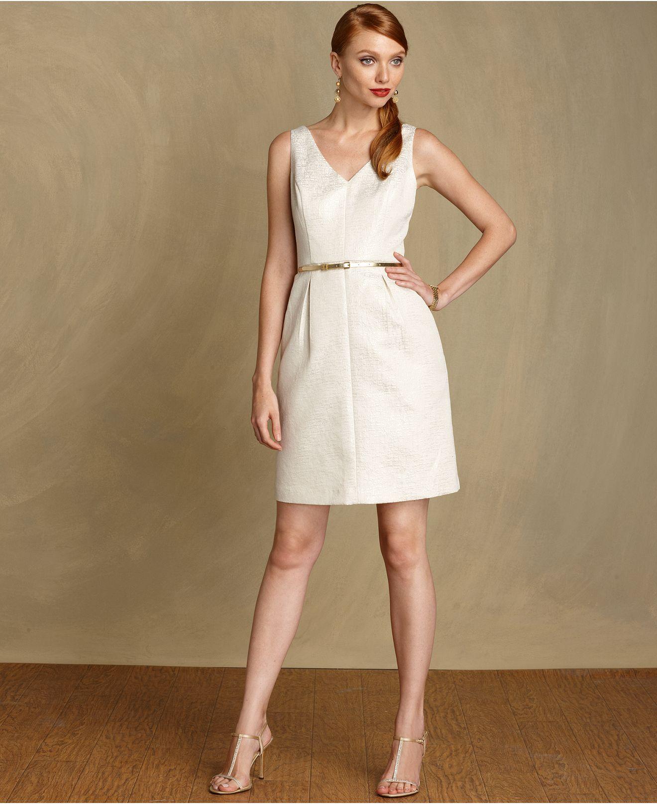 Macys womens dresses wedding  Tommy Hilfiger Dress VNeck Sleeveless Belted  Womens Dresses