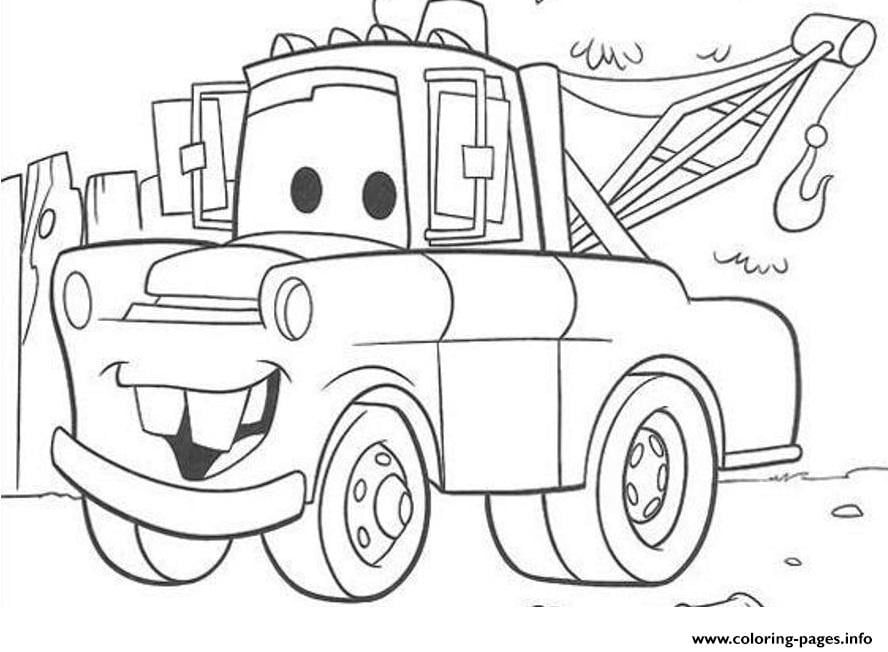 Lightning Mcqueen And Mater Coloring Pages To Print | Cars ...
