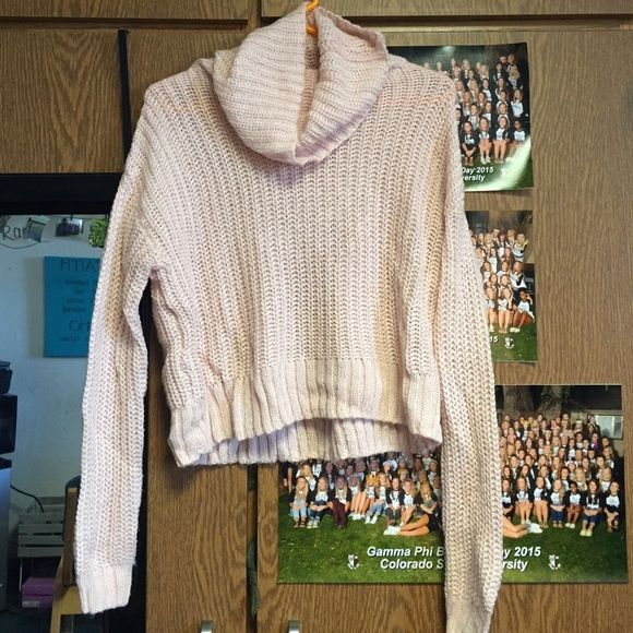 NWOT Bethany nota baby pink cowl neck sweater NWOT! Super warm ...