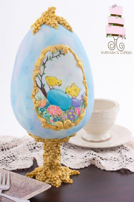 Pintado Torta del huevo de Pascua