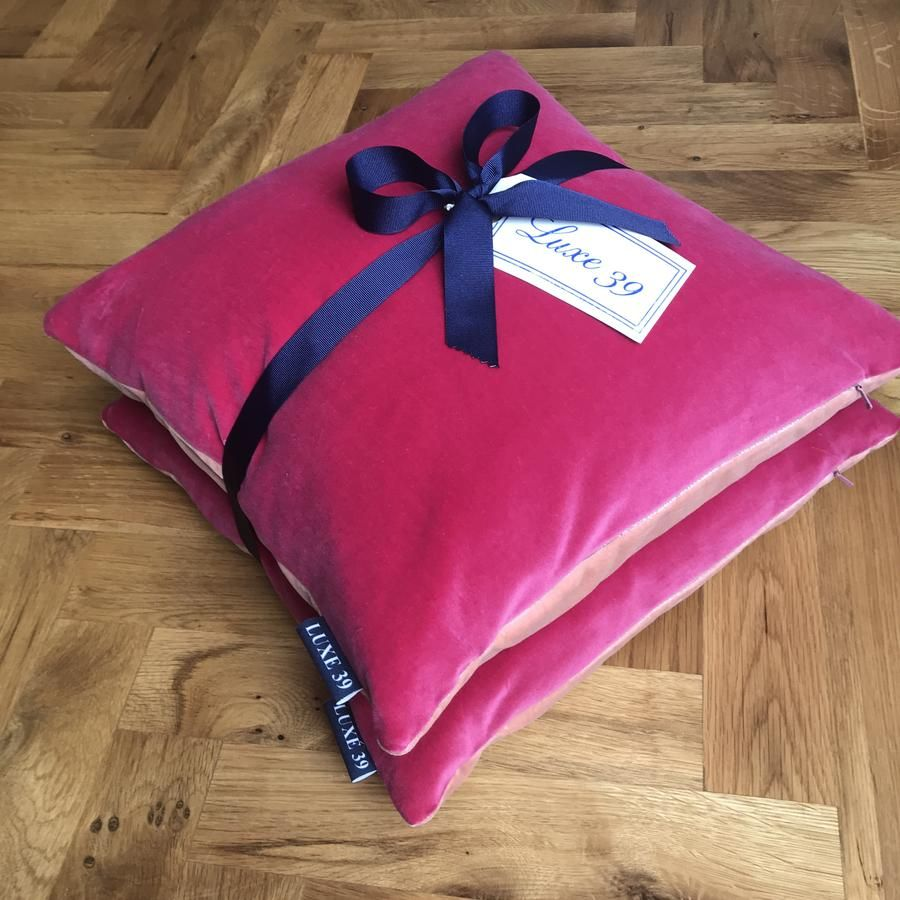 Luxury Pink Velvet Cushions Bright And Blush Cushion In One