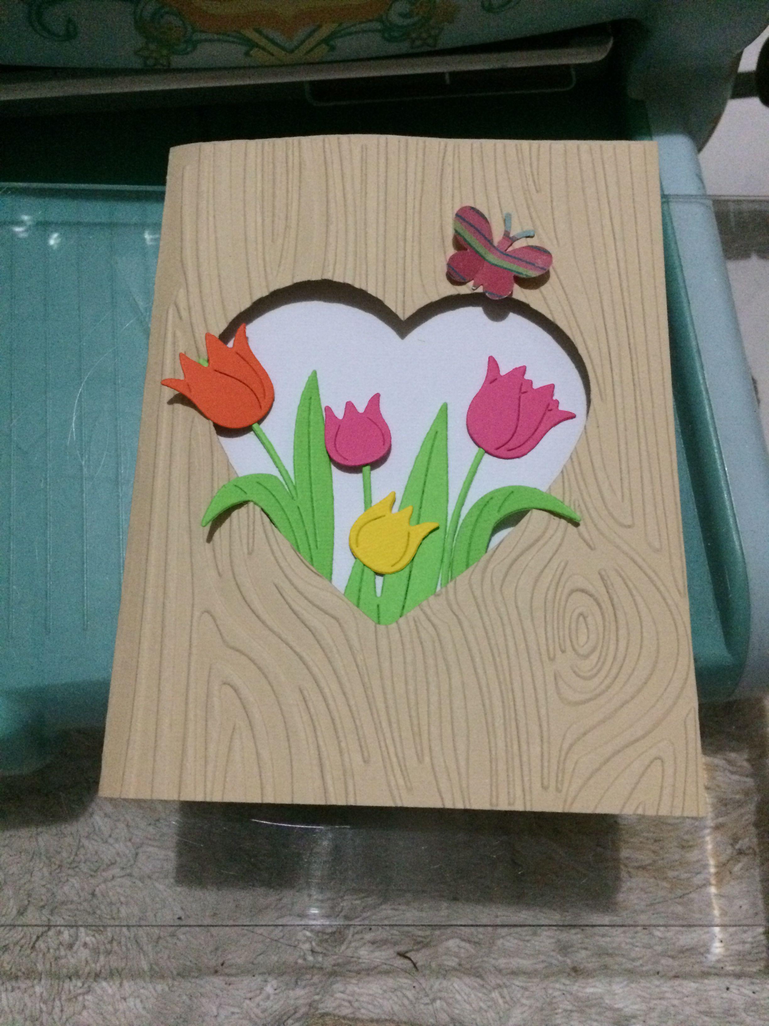 Proyecto tarjetas con tulipanes! Inspirada en una tarjeta de Cindy ...