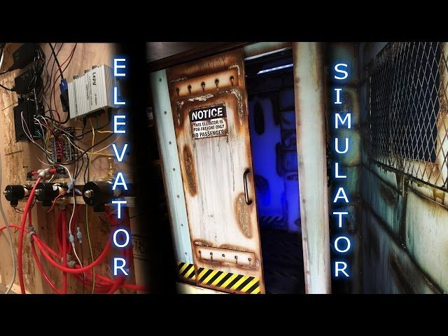 DIY Homemade Freight Elevator Simulator Haunted house