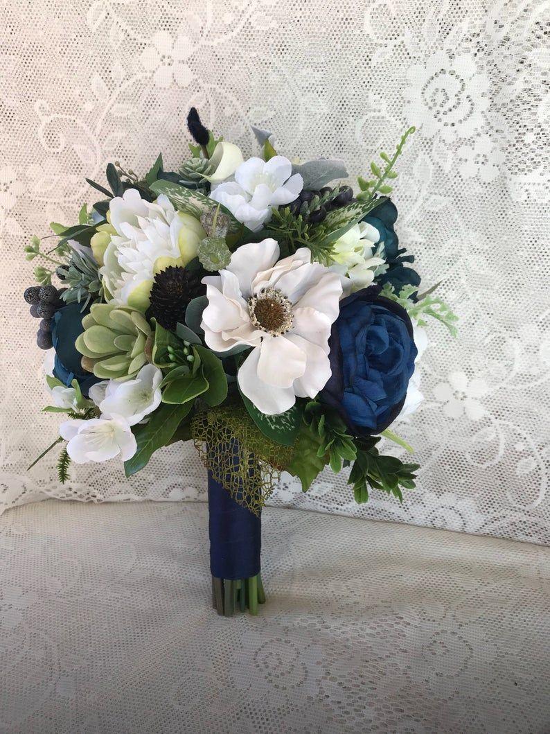 Wedding bouquet,Greenery Bridal bouquet, Succulent bouquet