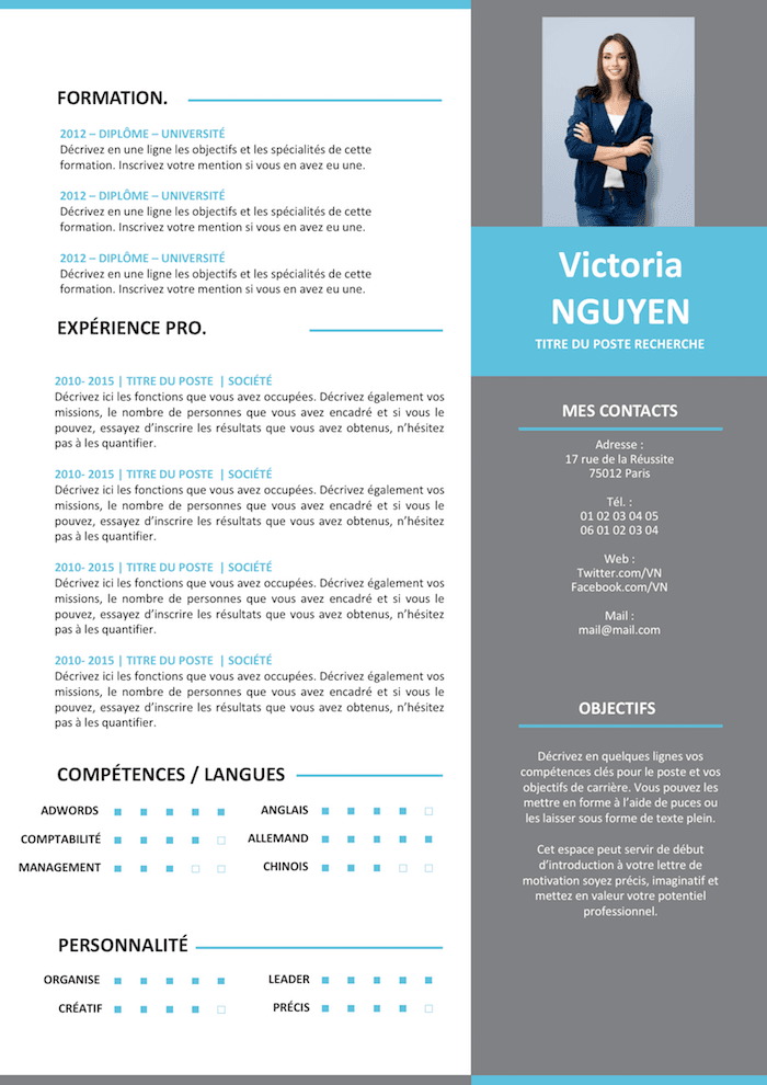 Ongebruikt CV Moderne Grey | Resume design template, Resume design, Resume HY-87