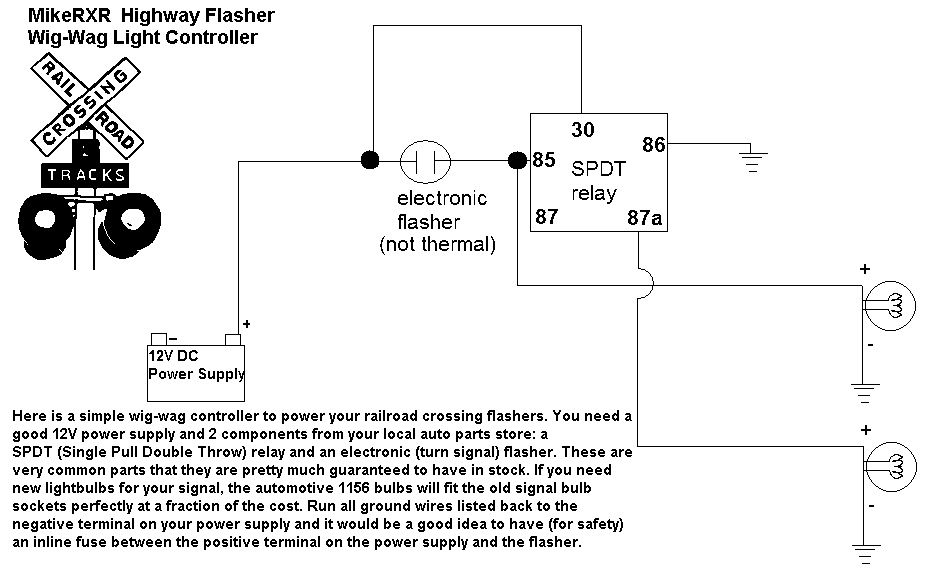 Mike S Railroad Crossing Forum View Topic How To Make Your Railroad Crossing Lights Flash Relay Thermal Power