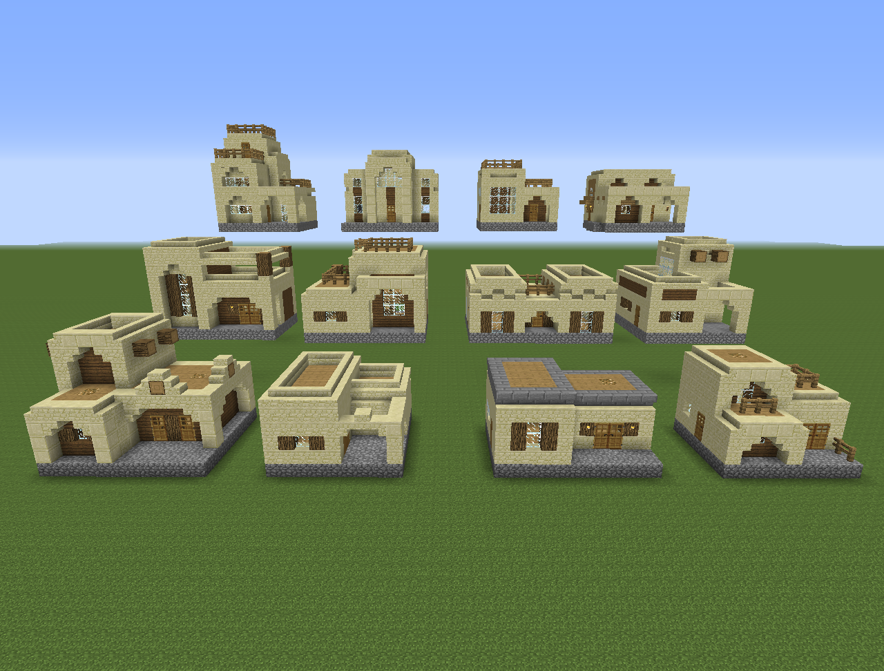 12 house designs x 2 building styles 24 unique houses minecraft pinterest minecraft - Minecraft house ideas ...