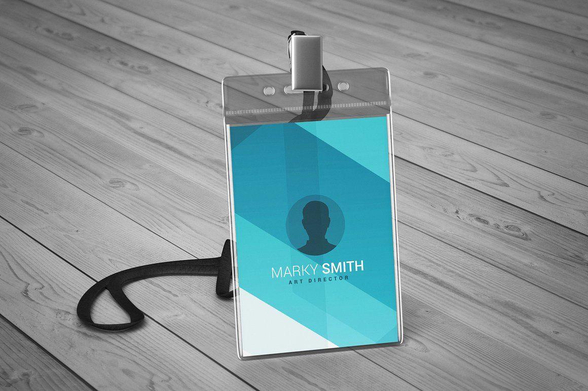 Lanyard Badge Mock Up Business Card Design Inspiration Card Design Badge