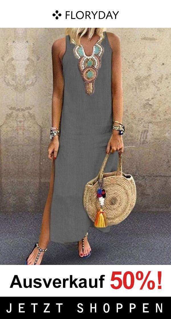 Photo of Vintage geometrisk maxi kjole