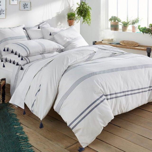 linge de lit imprimé, riad | la redoute interieurs, housses de