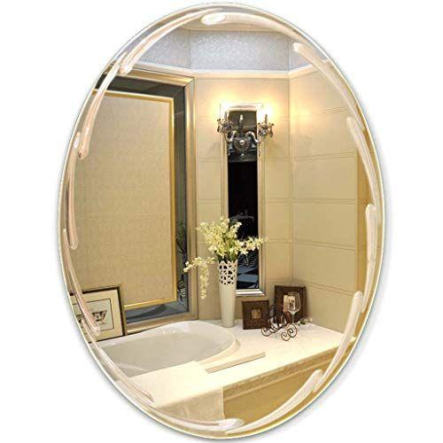 Vanity Mirror Wall Oval Mirror for Bathroom 45CM x 60CM(1 ...