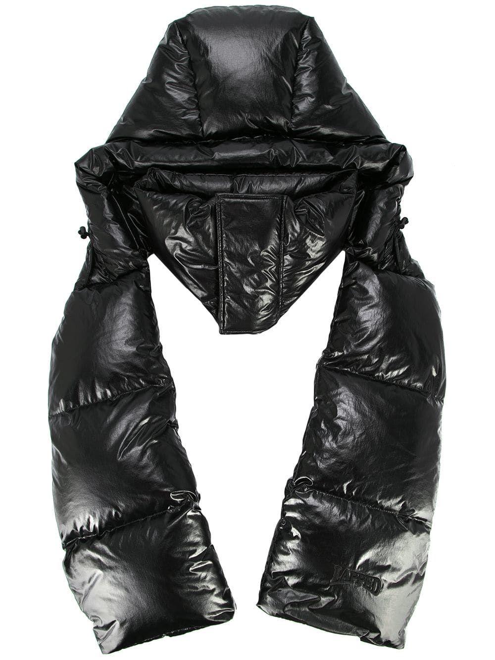 Juun.J padded scarf Padded coat Fashion, Scarf wrap