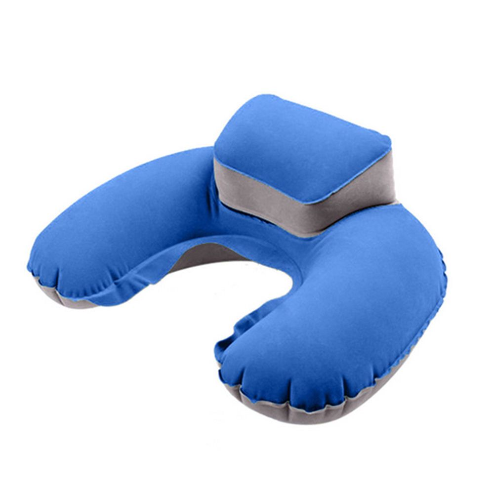 Newest travel inflatable neck pillow u shape blow up neck cushion