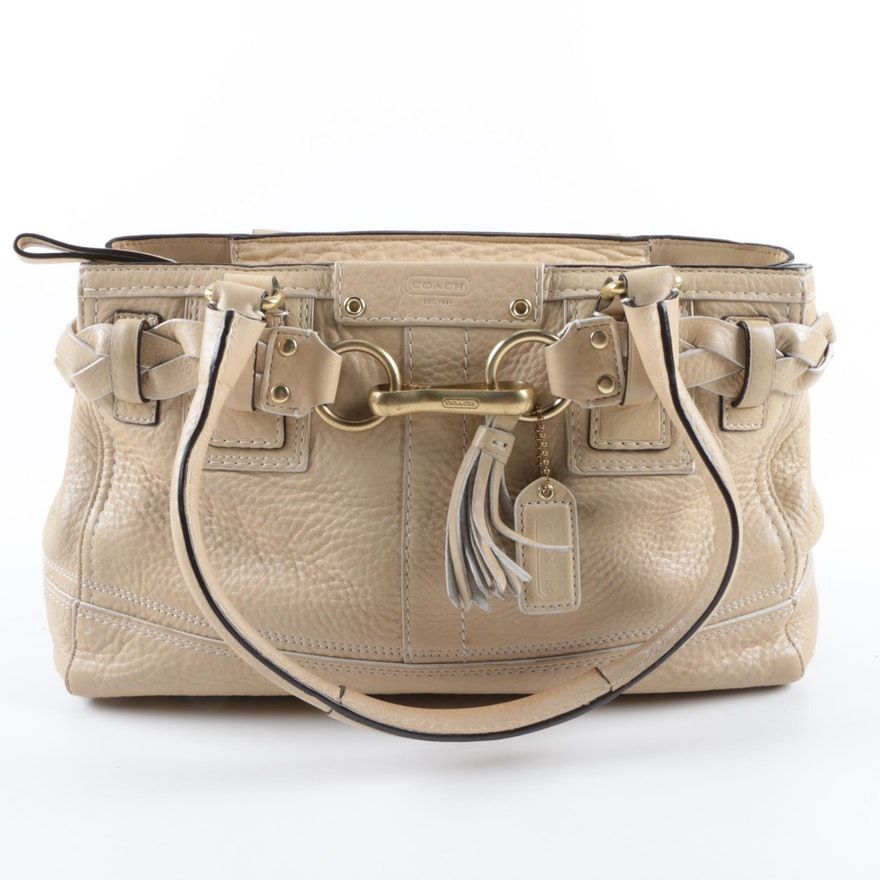 30916f42ab8e Coach Hamptons Braided Satchel Bag | Satchels, Pebbled leather and Bag