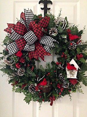 "Photo of Large 30 ""Pine Evergreen Wreath Door Decor Winter Christmas Holiday Green   eBay"