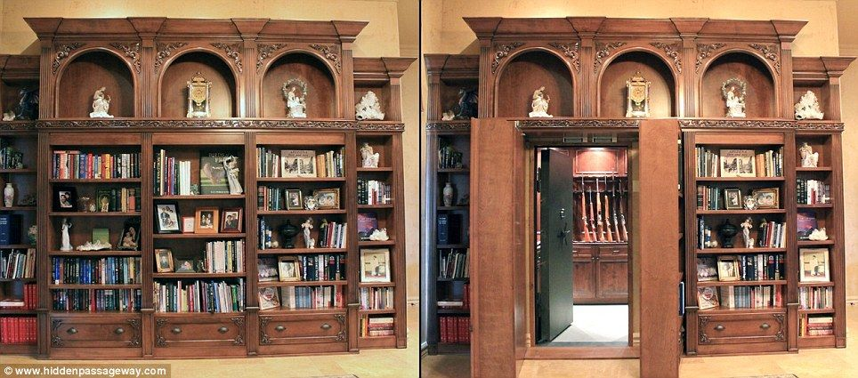 Inside The Real Life Panic Rooms Of Rich And Famous Hidden Chambers Behind Fireplaces Bookcases A Wardrobe