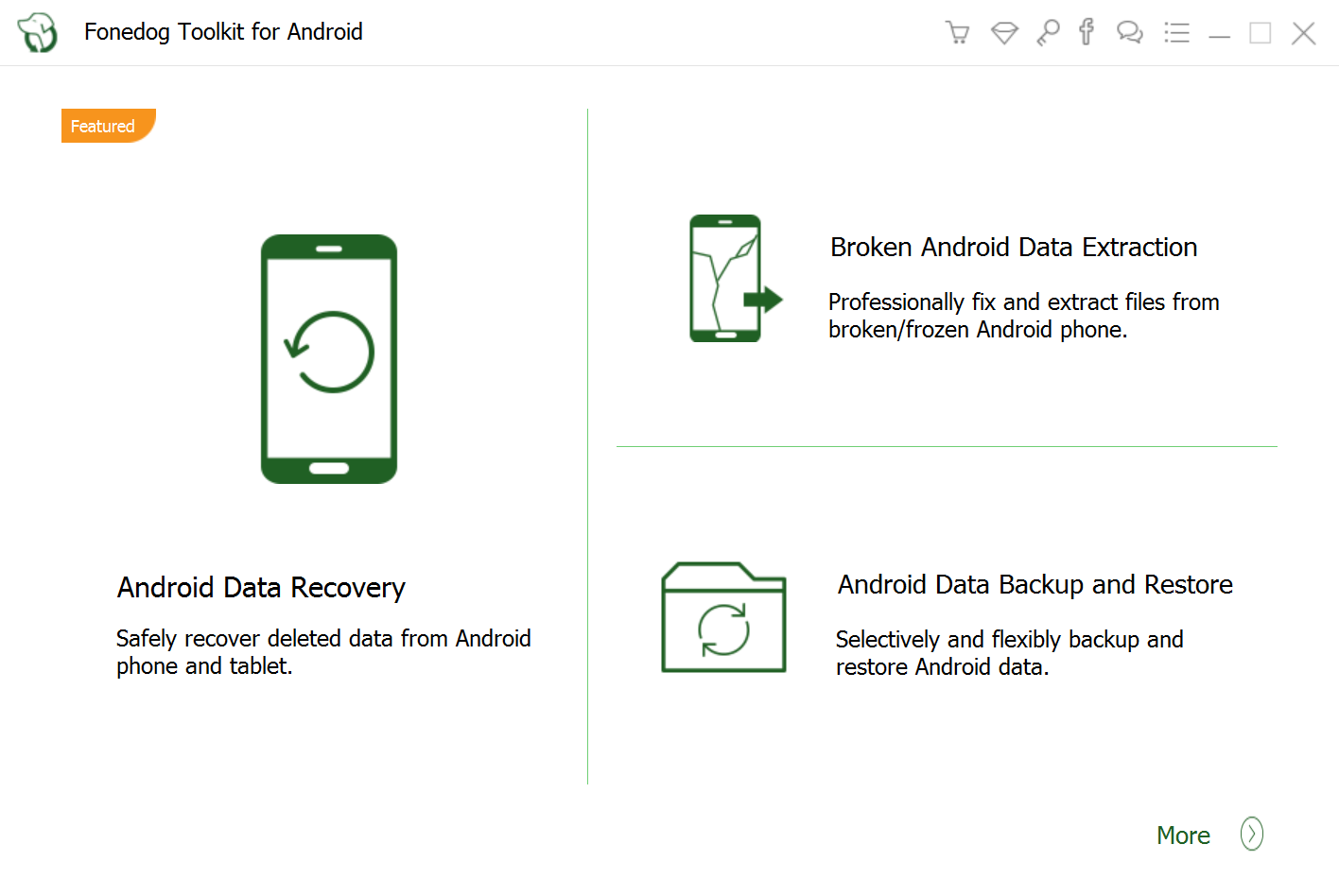 FoneDog toolkit - Android Data Recovery 100% Secure and