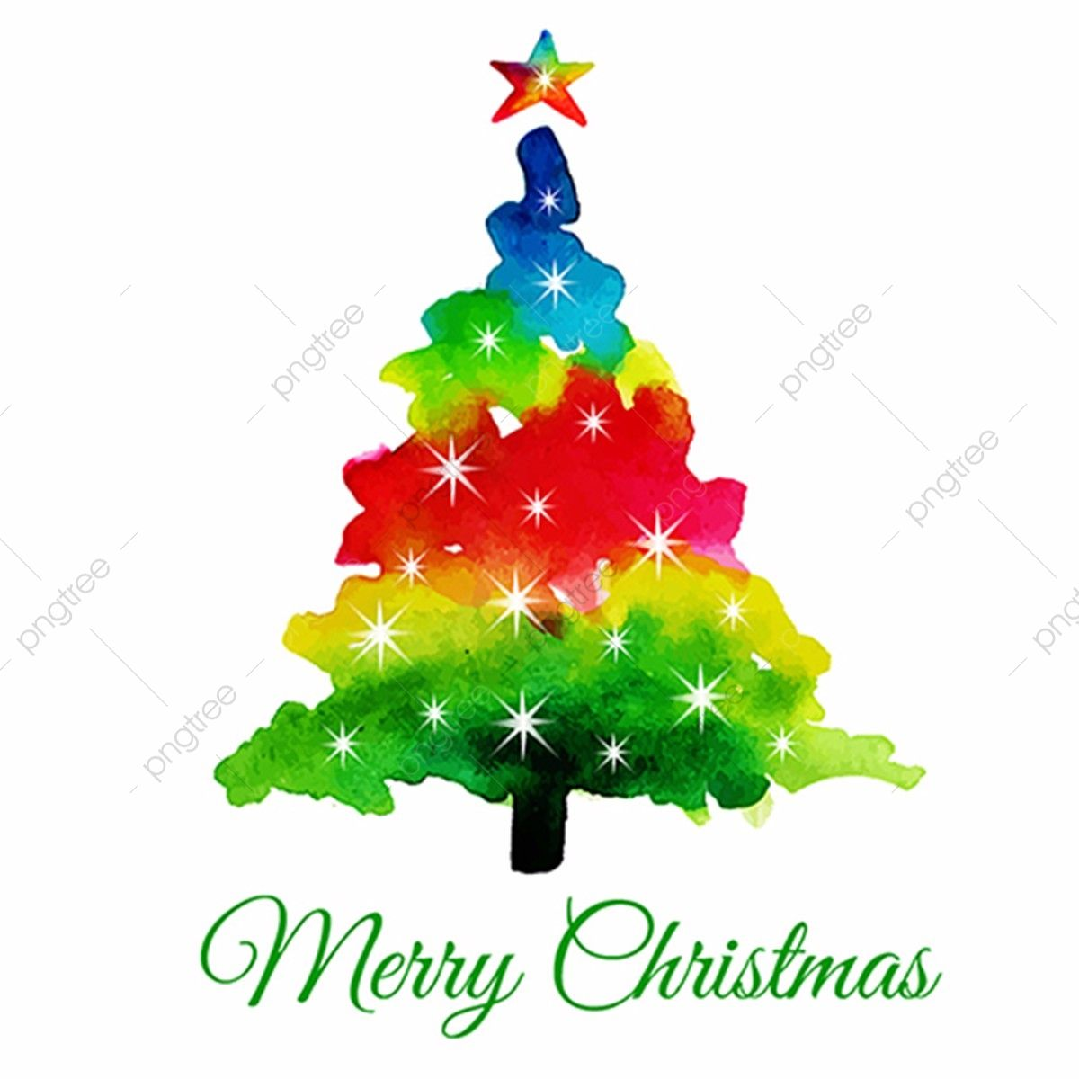 Watercolor Abstract Christmas Tree Watercolor Color Colors Png And Vector With Transparent Background For Free Download Watercolor Christmas Tree Watercolor Christmas Cards Christmas Tree Painting