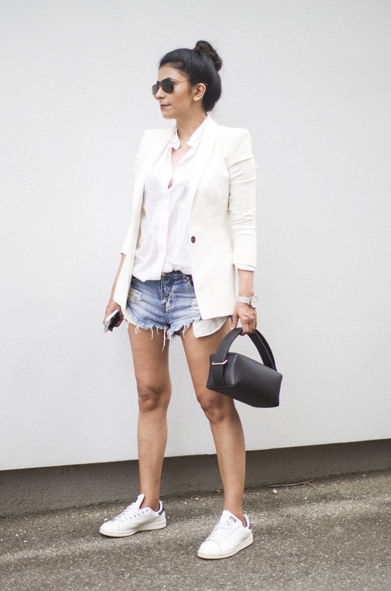 Outfit | Styling Cut Offs The Minimal Way