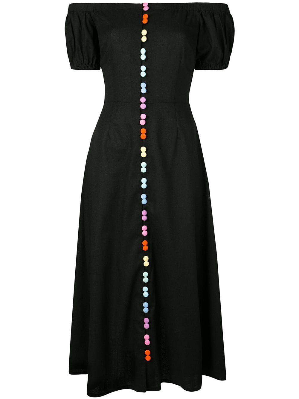 Olivia Rubin Rainbow Button Dress Farfetch Short Dress Red Dresses Floral Dress Black [ 1334 x 1000 Pixel ]