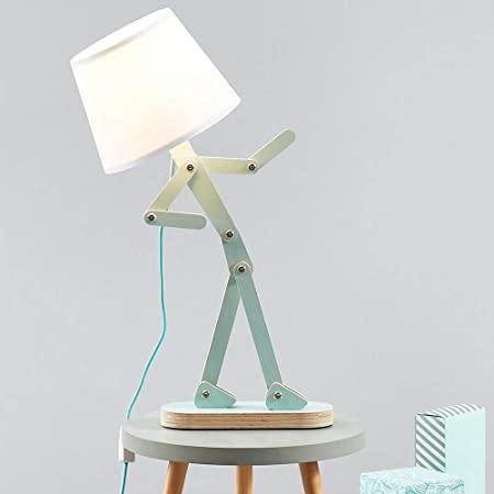 Hroome Cool Novelty Kids Desk Lamp Swing Arm Wood Adjustable Fun Table Lamp Bedside Light For Reading Girls Boys Bedrooms Living In 2021 Kids Desk Lamp Desk Lamp Lamp
