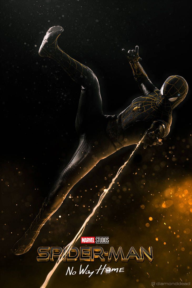 Spider-Man: No Way Home - Black and Gold Suit by diamonddead-Art on DeviantArt
