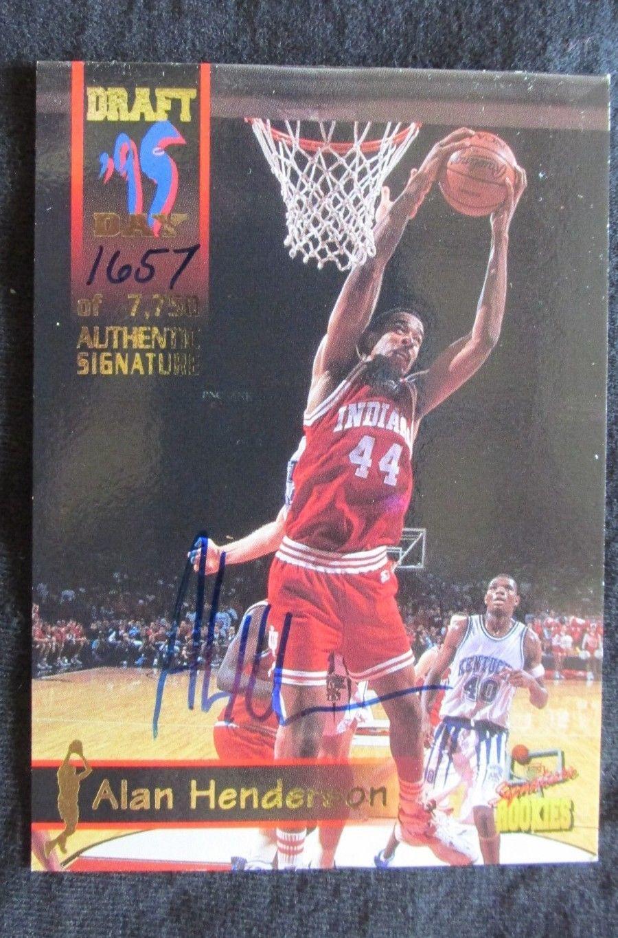 199596 signature rookies draft day alan henderson