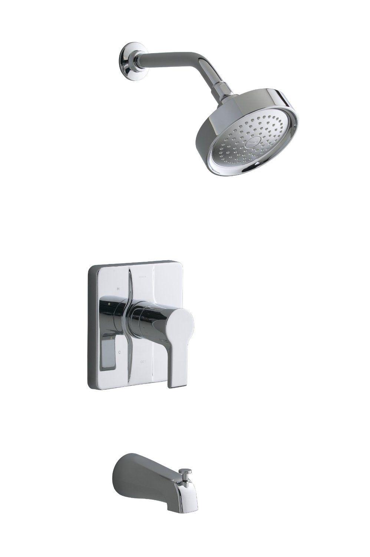Kohler | K-T10446-4-CP Singulier Rite-Temp Bath/Shower Trim ...