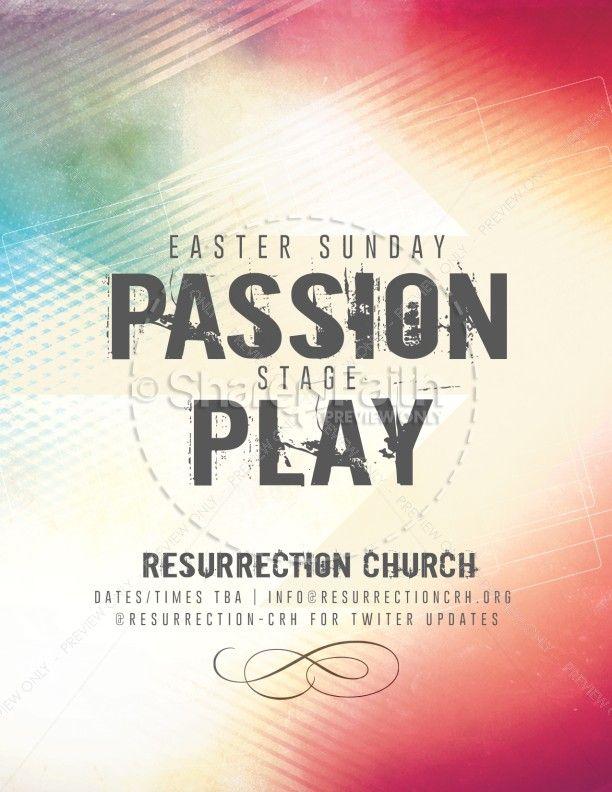Ash Wednesday Lent Religious Flyer for Easter Season – Religious Brochure