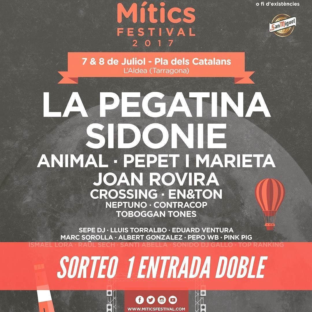 Sorteamos una Entrada Doble para @miticsfestival donde podrás ver a @sidonie_ @lapegatina entre otro muchos.  1. Sólo tienes que decirnos con quién irías al festival y etiquetarlo.  2. Seguir a @miticsfestival . El sorteo  terminará  el próximo Viernes 26 de Mayo a las 1200h y el ganador se conocerá el Lunes 29 de Mayo. #Miticsfestval #Sorteo #Sorteos #Festivales #Sidonie #LaPegatina #JoanRovira #Music