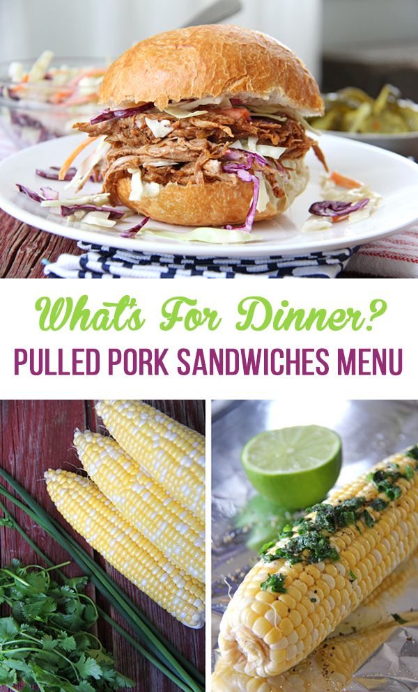 What's For Dinner? Pulled Pork Sandwiches Menu - A Pretty ...
