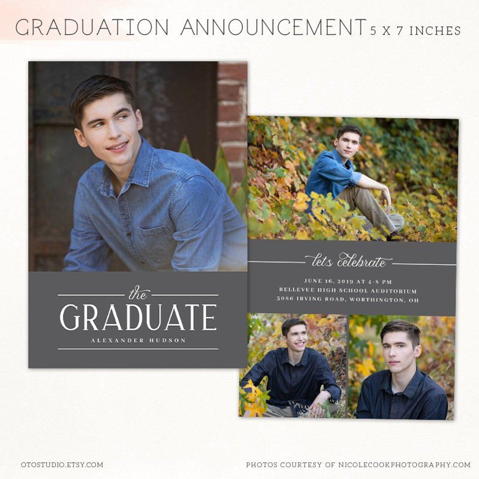 Graduation announcement template photo card