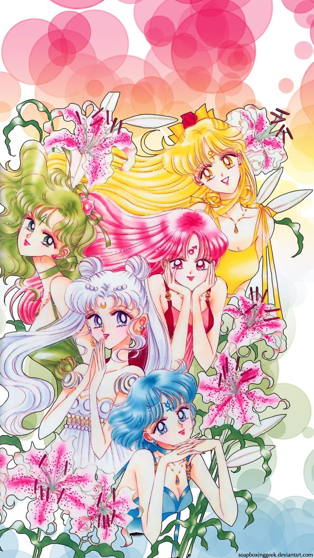 Inner Senshi Iphone Wallpaper