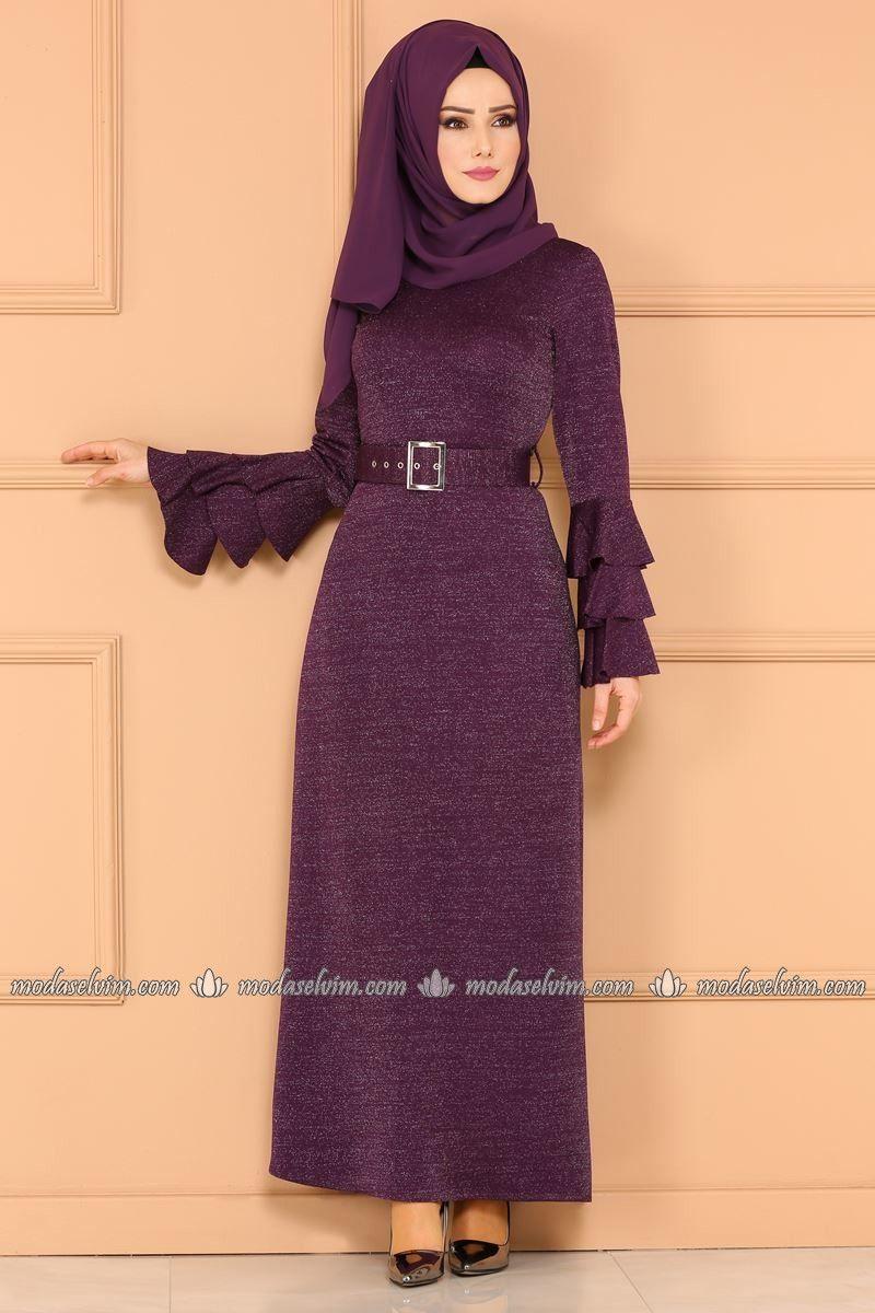 Kollari Firfirli Simli Elbise 4029ef311 Murdum The Dress Moda Stilleri Elbise
