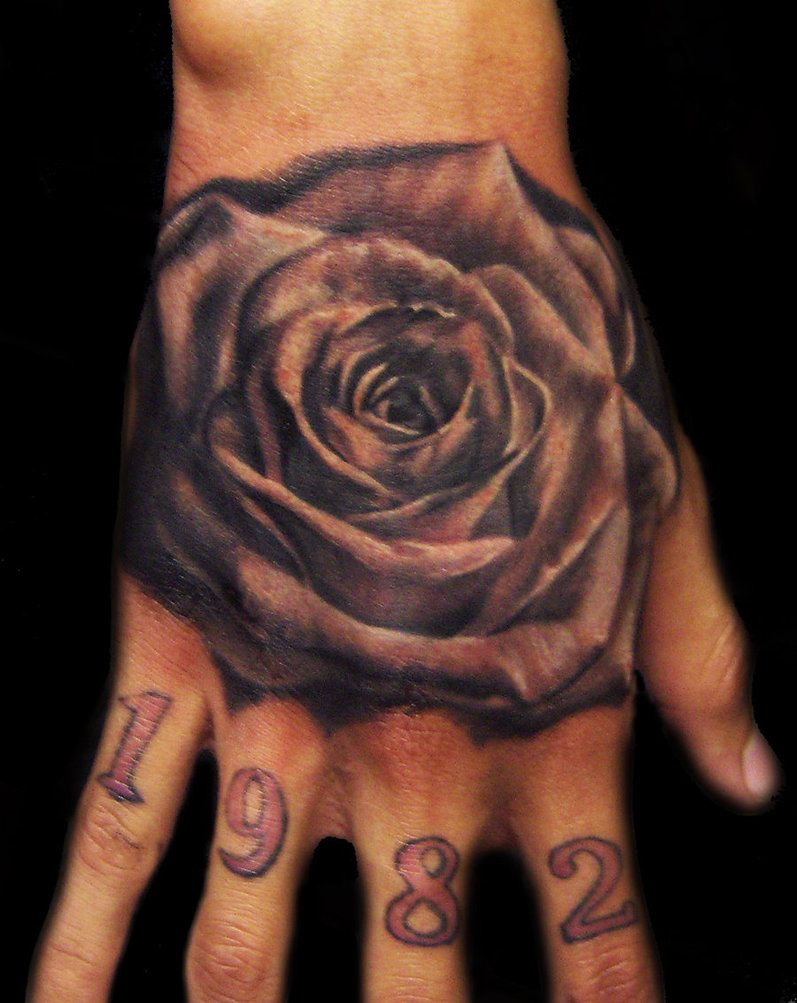 50 meaningful tattoo ideas art and design - Black Rose Tattoo3d Tattoos