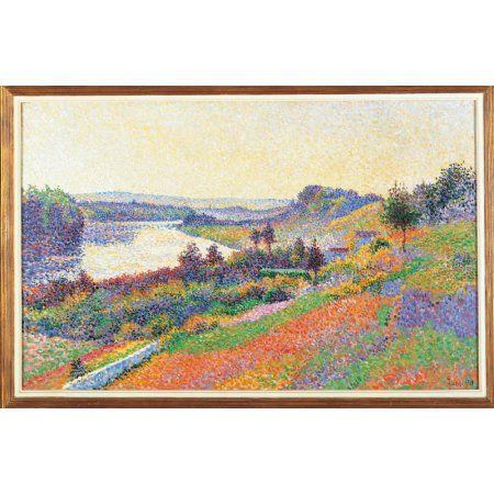 The Seine At Herblay Canvas Art - (24 x 18)